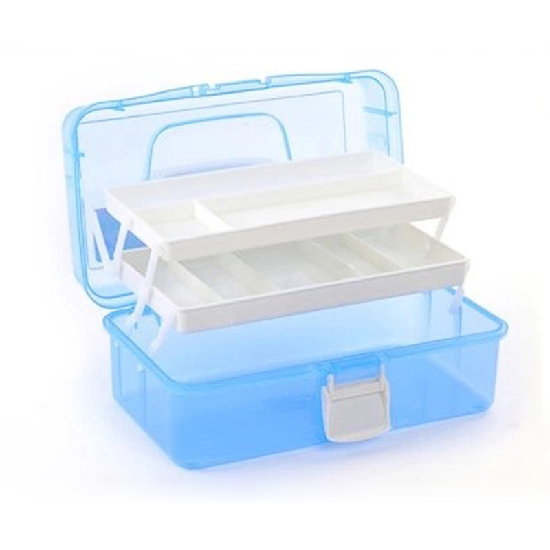 Useful S/M/L Size Nail Tool Box 3 Layer Plastic Manicure Box Case for Manicure Nail Salon Equipment Para Manicure Free Shipping(China (Mainland))