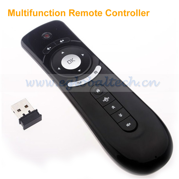Multifunction Remote Controller 2.4GHz Wireless and IR Air Mouse 3D Motion Stick Android Remote for Mini PC Media Player(China (Mainland))