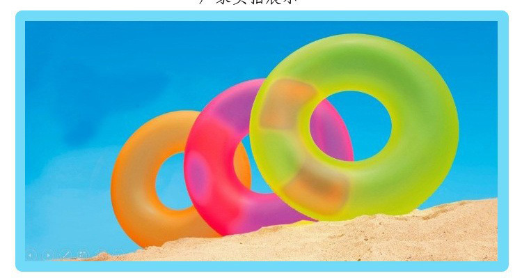 Summer Swimming both Men and Women Living Water Ring Fluorescent Swim Ring(China (Mainland))