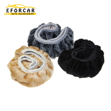1X Car winter general plush lint steering wheel cover soft imitation wool accessories 38cm  High Quality Free Shipping