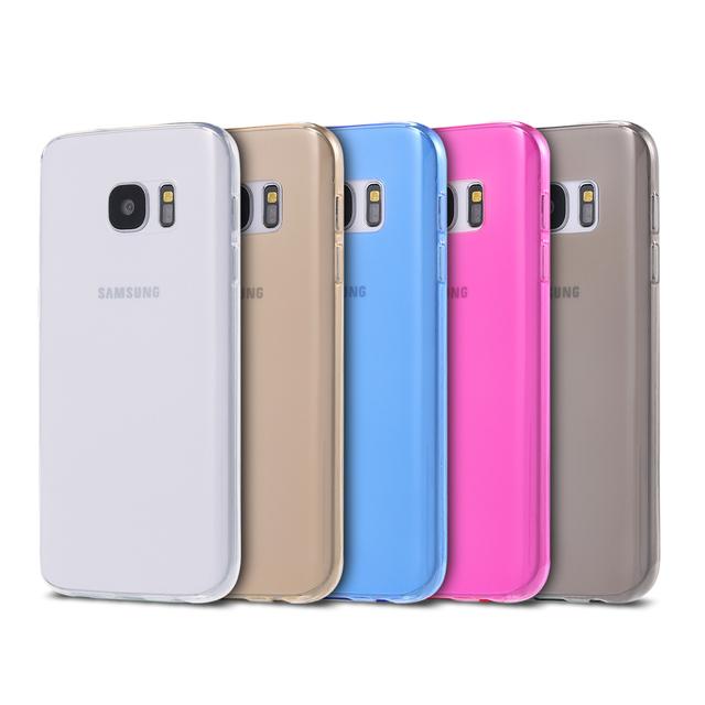S7 край ясно ультра тонкий мягкие TPU назад чехол для Samsung Galaxy S7 край 0.3 мм прозрачный прочный противоударный телефон обложка сумки