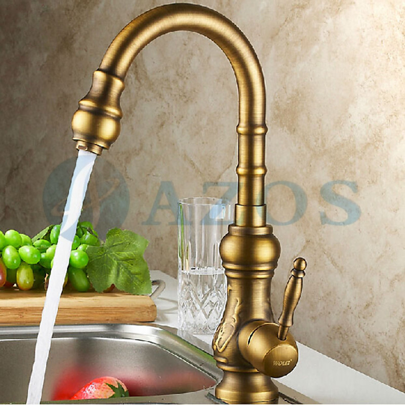 gold kitchen faucet free shipping 360 rotation gold