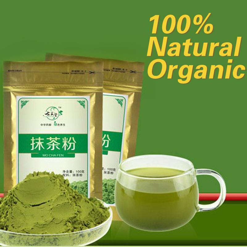 Free shipping ! 100g china matcha green tea powder natural organic matcha tea of slimming buy direct from china food.(China (Mainland))