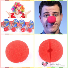 Free shipping 1pc Clown Nose Foam Funny Cosplay Prank Joke Gag Practical Trick Novelty toys Halloween Birthday party supply gift(China (Mainland))