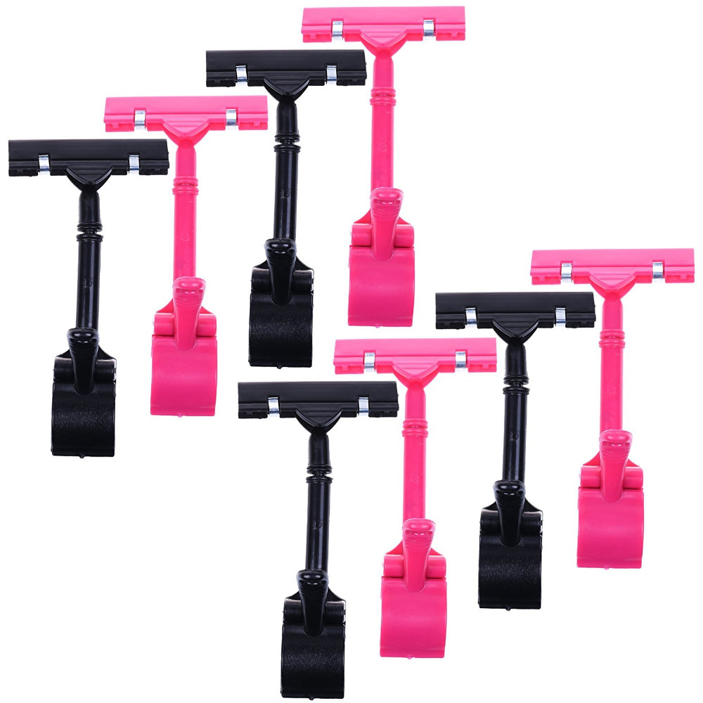 8pcs POP Adjustable Plastic Clip-on Style Merchandise Sign Display Clip Holder(China (Mainland))
