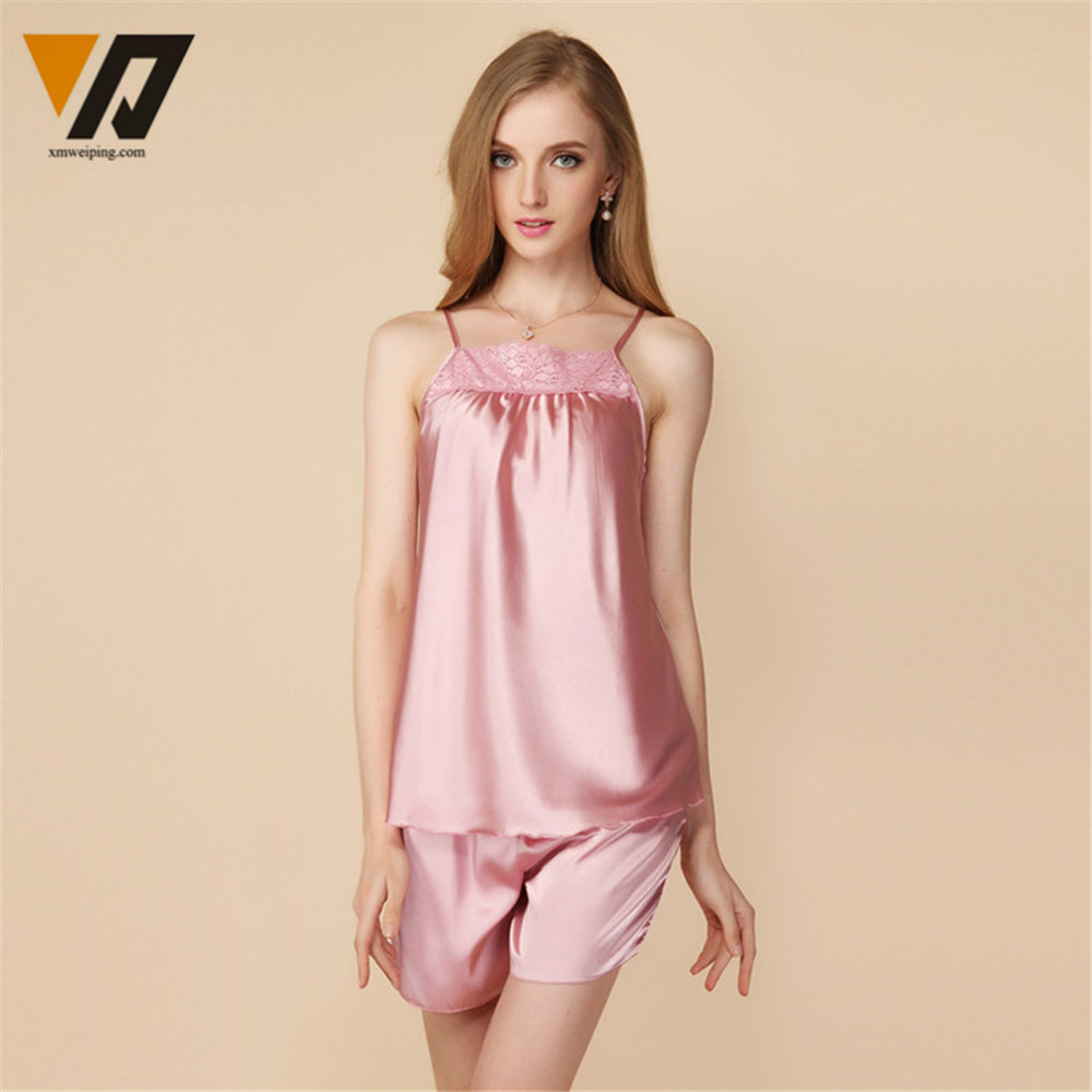 Popular Satin Silk Pajamas Shorts-Buy Cheap Satin Silk Pajamas ...