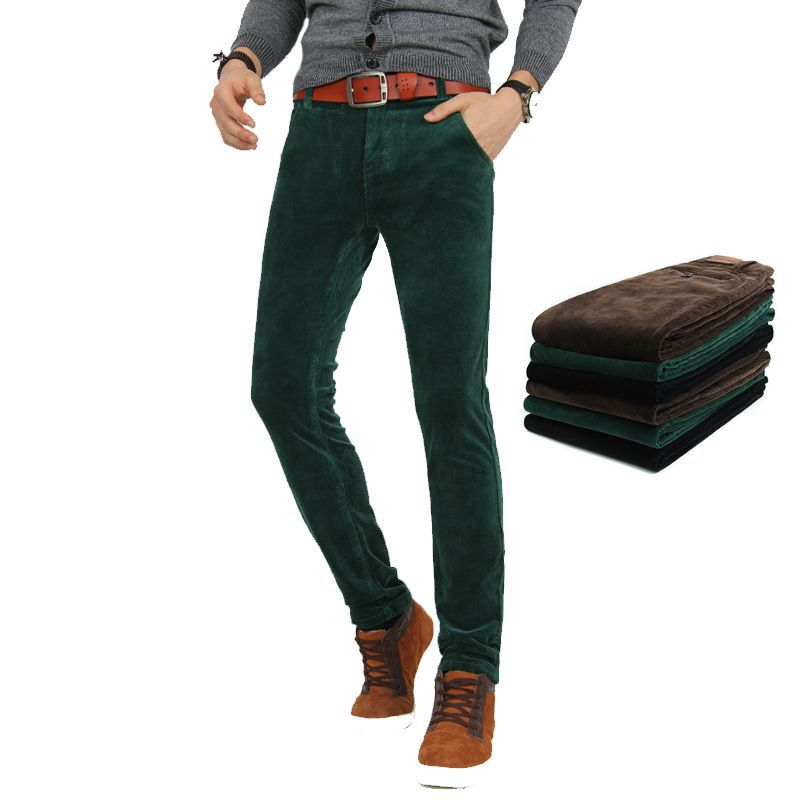Slim Fit Corduroy Pants Men
