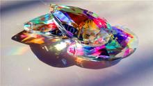 15 Pcs 50mm AB Crystal Glass Almond Prisms Lamp Chandelier Parts X'MAS Wedding Pendant 2''(China (Mainland))