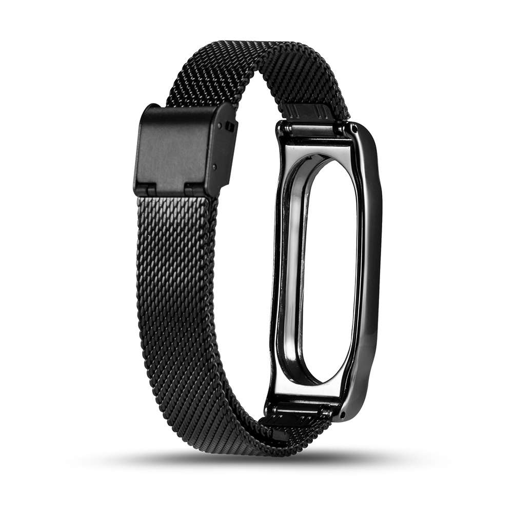 Metal Strap For Xiaomi Mi Band 2 Strap Stainless Steel Bracelet Smart Band Replace Accessories For Mi Band 2 OLED Display Wrist
