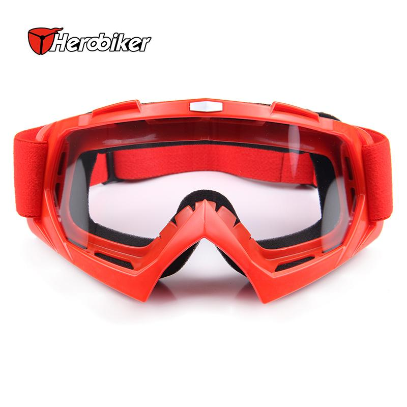 Antiparras snowboardSnowmobile Motorcycle Goggles gafas motocross Off-Road Eyewear oculos motocross Red Frame Clear Lens T815-7(China (Mainland))
