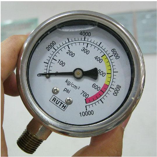 Hydraulic Pressure Meter : Kg psi quot mm hydraulic pressure gauge meter