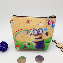 Leather Women Wallets PU Coin Purses Holder Despicable Me Minions Coins Pouch Small Bags For Kids