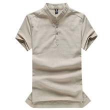 2015 New Arrival Fashion Men Linen Shirt Comfort Breathe Freely Chinese Style Casual Wear Summer Style DX0087(China (Mainland))