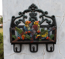 iron letter inserted magazine inserted newspapers inserted/ iron hook debris storage yard with decorations of four birds(China (Mainland))