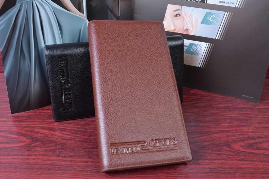 Retail man long bifold wallet money cash on delivery national Wenzhou Jiangnan wallet(China (Mainland))