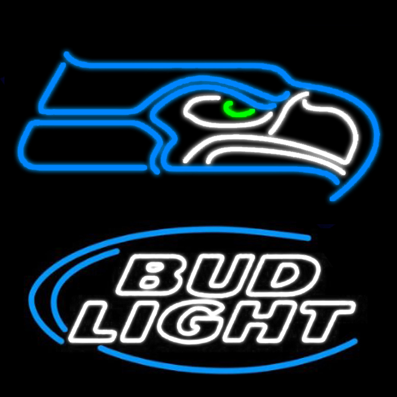 FS Neon Sign New Bud Light Seattle Eagle Handcrafted Beer Pub Game Room Windows Garage Wall Sign 24x20! The Best Offer!(China (Mainland))