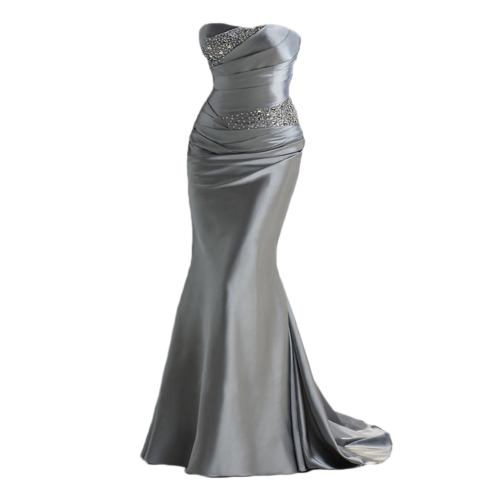 Buy under 50 in stock mermaid silver for Cheap silver wedding dresses