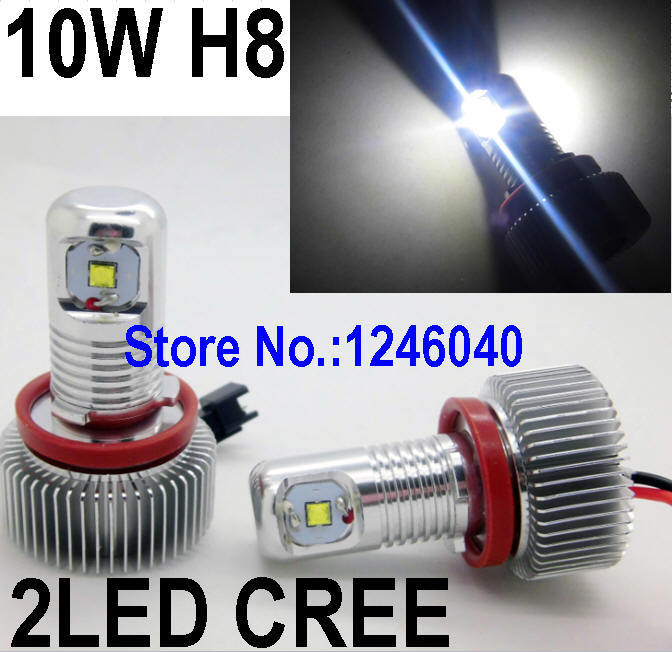 32W H8 canbus Cree angel eyes bulb Led ring marker for E60 E70 X5 X6 E90 E92 M3 E93 E81 E87 Z4 BMW high brightness top quality(China (Mainland))