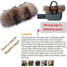 Raccoon's Fur Trims for Classic big obag style AMbag plush decoration plush o bag  AMbag plush accesory(China (Mainland))
