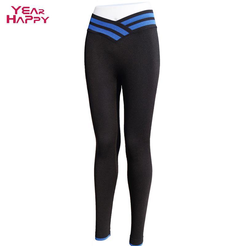 Гаджет  2015  Women Yoga Sports Pants Elastic Wicking Force Exercise Tights Female Sports Elastic Fitness Running Trousers Slim Leggings None Спорт и развлечения