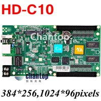 HD-C10 USB + Ethernet Port Asynchronous control Full color Video LED display control card 256*384 pixels U disk controller