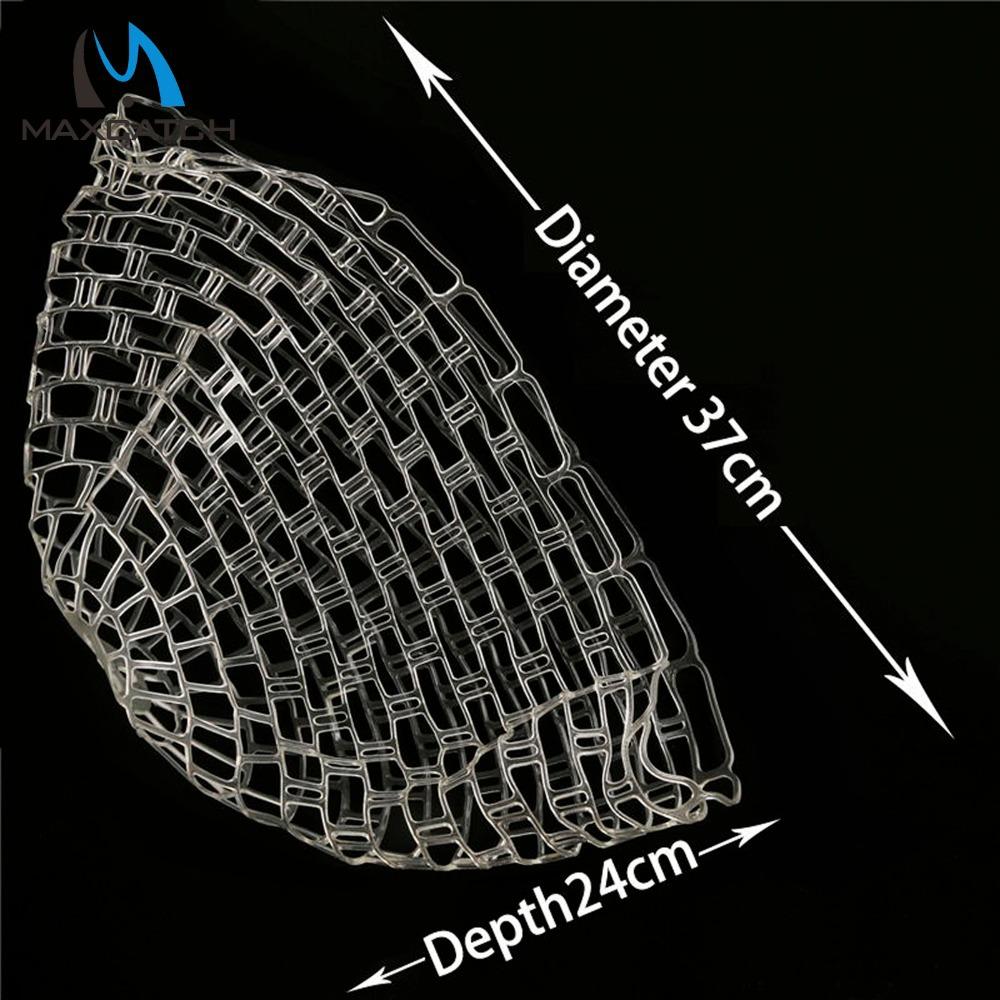 Maxcatch High Quality Fishing Net Dia 37cm Depth 24cm Replacement Rubber Net Bag For Fishing Landing Net(China (Mainland))