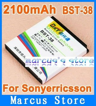 HK post Free shipping 2100mAh Battery BST-38 For Sony Ericsson C510 K850 R306c  W980 Xperia X10 mini  without retial package