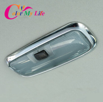 ABS Chrome Rear Reading light circle cover Reading Lights sticker case for Ford Fiesta 2009 2010 2012 2013 2014 2015 accessories