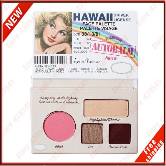 Famous Makeup Cosmetics TheBalm15 AutoBalm Hawall Mini Palette Blush Highlighter Eyeshadow Liner 1Pcs 1 Pcs(China (Mainland))