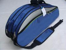 2015 New Arrival 9332 Canvas Sports Duffles badminton cover Zipper Unisex Gym Bags badminton racket bag packaging 3-6 rackets(China (Mainland))