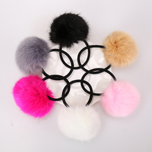 Buy 6PCS Artificial Rabbit Fur Ball Elastic Hair Rope Rings Ties Bands Ponytail Holders Girls Hairband Headband Hair Accessories for $2.55 in AliExpress store