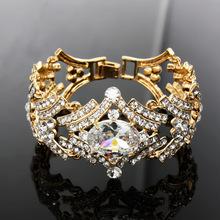 Cubic Zirconia Imitation Diamond Bracelets for Women gold chunky chain bracelet 2016 austrian crystal jewelry bijoux brtj90(China (Mainland))