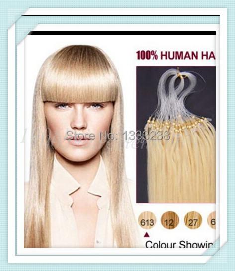 HOT 18inch/45cm Full Head Set 8colorsAvalible Micro Rings Loop hair extensions natural hair weave real hair 0.8g/s 100s 80g/lot(China (Mainland))