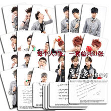 Youpop Wholesale KPOP Fan GOT7 Personal Section Album Small 21piece Self Made Signature Cards Photos Photocard MY0433(China (Mainland))
