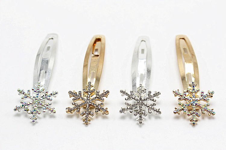 1pc Fashion Snowflake Gold Silver Flower Hairpin Vintage BB Hair Pin Women Hair Clip Jewelry Elegant Accessories 1586-1(China (Mainland))