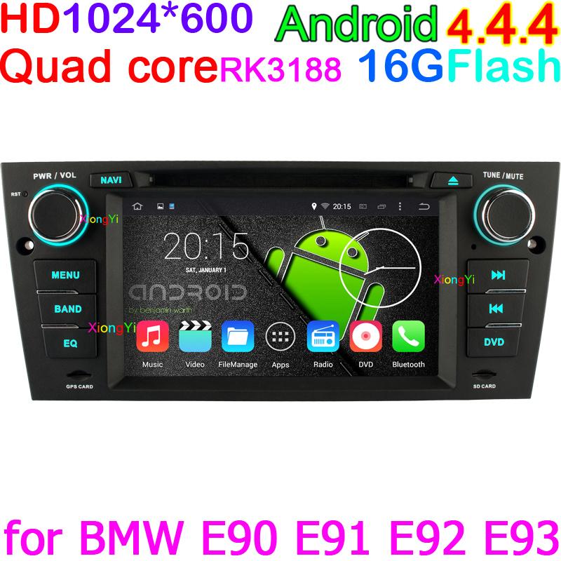 HD 1024*600 Android 4.4 Quad Core Car DVD Video Player For BMW M3 Series E90 E91 E92 E93 with BT GPS RDS WiFi OBD DVR Head Unit(China (Mainland))