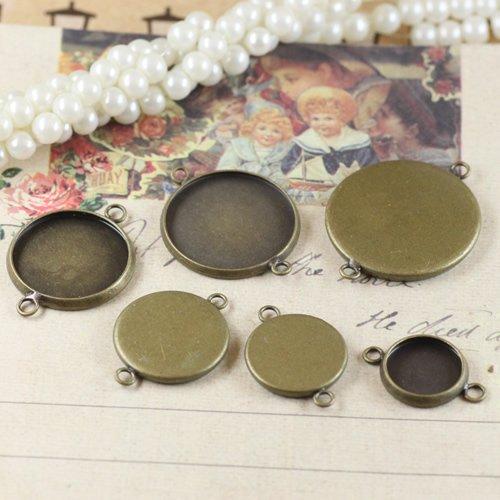 Free ship 200pcs/lot Inside size 12mm antique bronze round Cameo Base Sett DIY pendant findings pendant base<br><br>Aliexpress