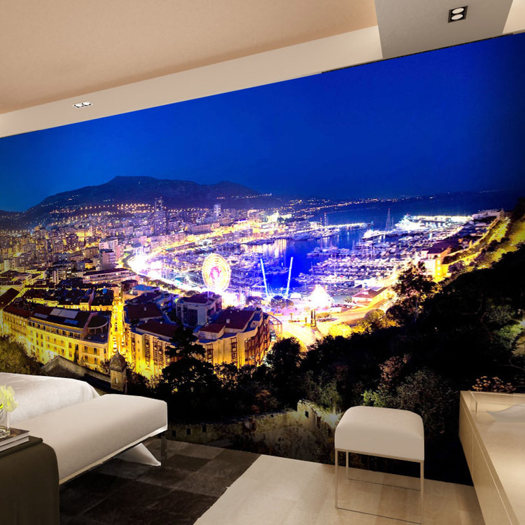 Buy free shipping modern large hotel for Contemporary resort mural