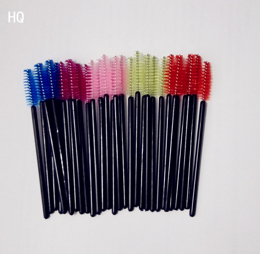 50PCS Multi color Disposable Eyelash Extension Soft Mascara Brush Wands Applicator font b Makeup b font