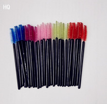 50PCS Multi-color Disposable Eyelash Extension Soft Mascara Brush Wands Applicator Makeup Cosmetic Tool