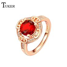 Buy Fashion Multicolor Rings Women Fashion selling mysterious hollow Cubic Zirconia Rose Gold Color Wedding Finger Ring Fine Jewelry for $2.32 in AliExpress store
