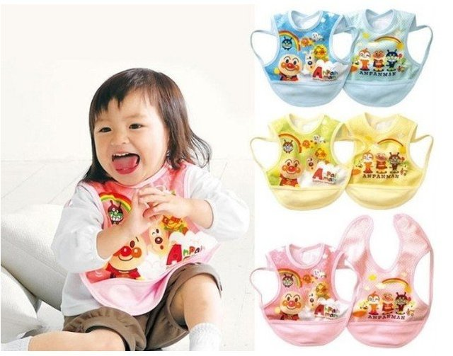 Baby cartoon waterproof Bib /slobber towel /reverse clothes /dinner jacket