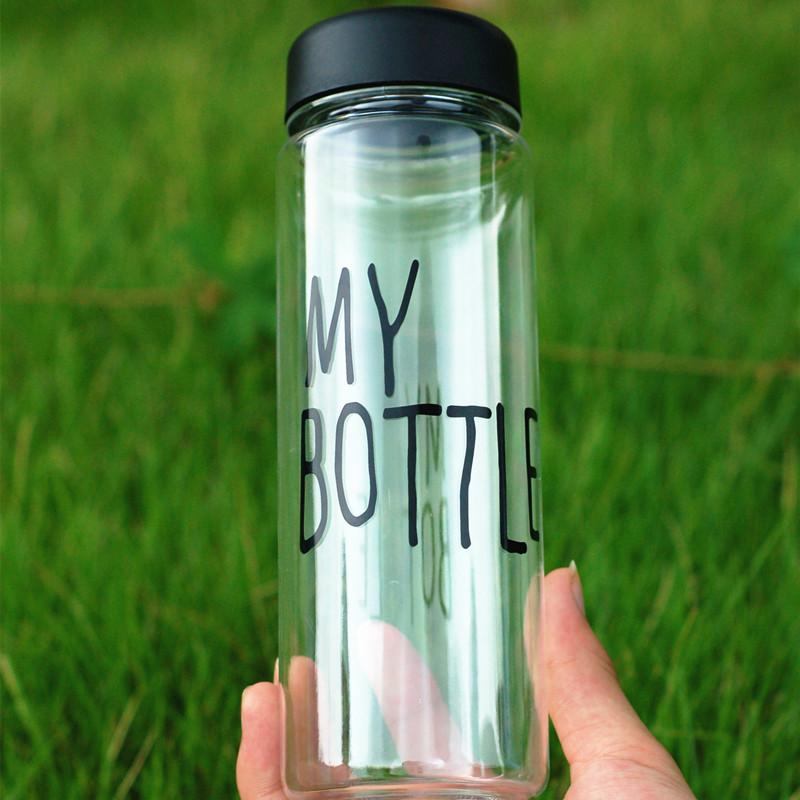 My Bottle 500 ml Sport Fruit Lemon Juice Bottle Fashion Clear Plastic Water Bottle(China (Mainland))