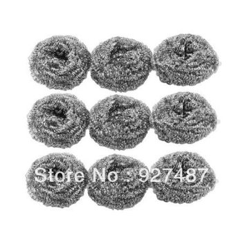 1000PCS 20g Amico Kitchen Dish Pot Cleaning Steel Wire Spiral Scourer Ball 1000PCS