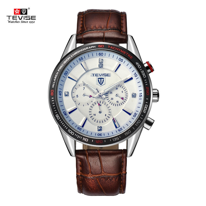 Фотография TEVISE multi-function Full automatic mechanical steel watches men brand business wristwatches relogio masculino 2016 823B