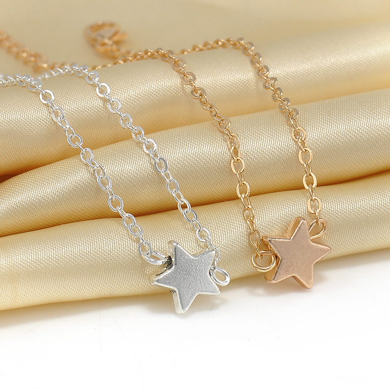 Гаджет  2 pcs Europe Style Star Pendant Charm Chain Bracelet Couple Bracelets Jewelry Friendship Gifts to Friends Lover free shipping None Ювелирные изделия и часы
