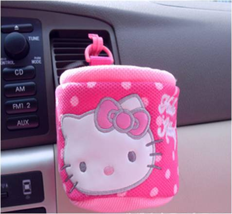 car styling mobile holder cell holder card holder car charger holder hello kitty car interior. Black Bedroom Furniture Sets. Home Design Ideas