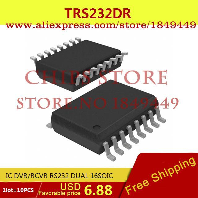 Free Shipping Diy Kit TRS232DR IC DVR/RCVR RS232 DUAL 16SOIC 232 TRS232 10pcs(China (Mainland))