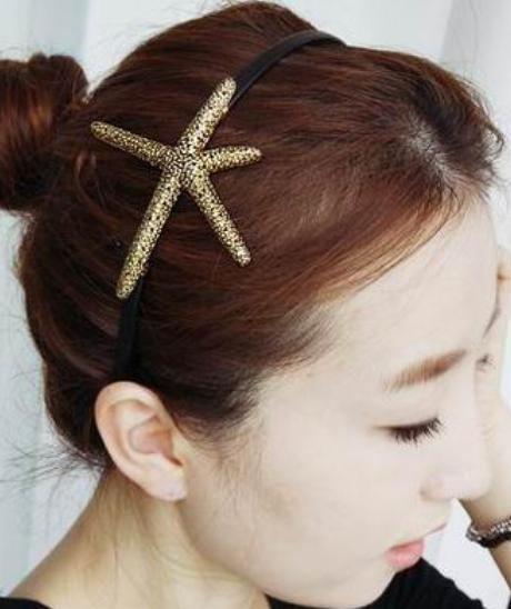 New Arrival Gold Color Metal Hair Accessories Retro Alloy starfish Headbands hair pin for women YF331(China (Mainland))