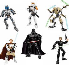 2016 New Star Wars Minifigures Darth Vader General Grievous Clone Commander Cody Figure Toys Building Blocks Compatible Legoed